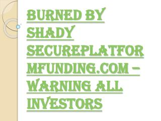 Bruce Green- Be Careful the Man and His Company Secure Platform Funding
