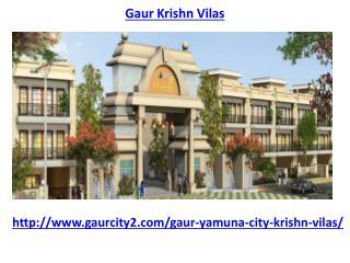 Gaur Krishna Vilas Independent Vilas Yamuna Expressway