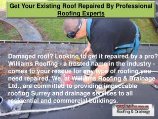 Get Your Existing Roof Repaired By Professional Roofing Experts