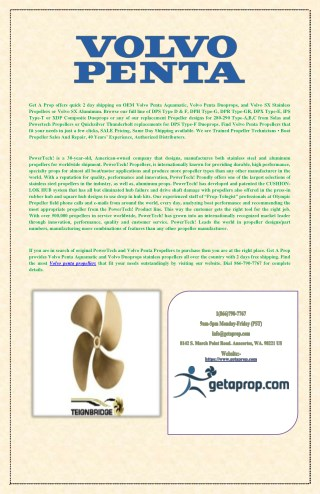 Volvo Penta Propellers & Duoprops Stainless Propellers Sale – Quick Delivery