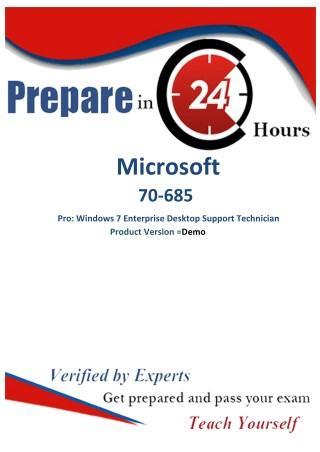 Microsoft 70-685 Unique Questions- Microsoft 70-685 Realexamdumps.com