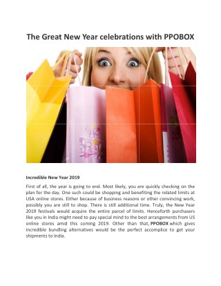The Great New Year celebrations with PPOBOX
