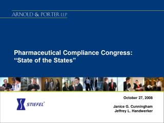 "Pharmaceutical Compliance Congress: ""State of the States"""
