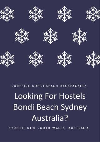 Looking For Hostels Bondi Beach Sydney Australia?