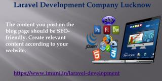 Laravel Development Company Lucknow  Represent Your Business As A Brand