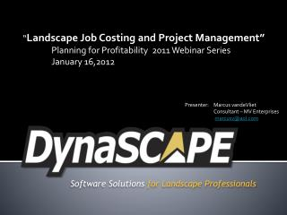 Software Solutions for Landscape Professionals