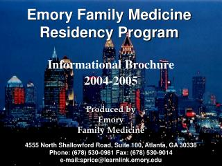 Emory Family Medicine Residency Program