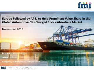 Automotive Gas Charged Shock Absorbers Market: Growing Inclination of Automakers to Introduce These as a Comfort Feature