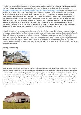 The War Versus Apartment Or Condo Moving