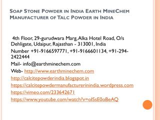 Soap Stone Powder in India Earth MineChem Manufacturer of Talc Powder in India