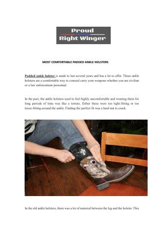 Comfortable Padded Ankle Holster | Proud Right Winger