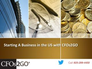 Starting A Business in the US with CFOs2GO