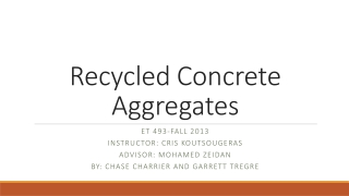 Recycled Concrete Aggregates