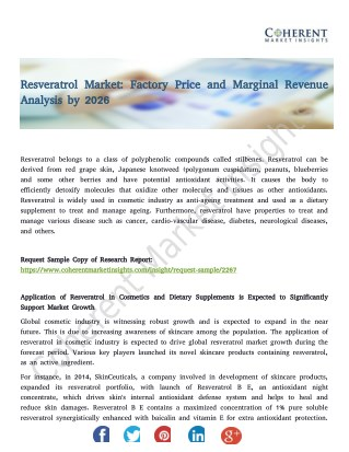 Resveratrol Market: Factory Price and Marginal Revenue Analysis by 2026