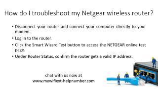 How do I troubleshoot my Netgear wireless router?
