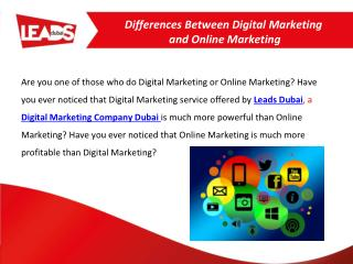 Differences Between Digital Marketing and Online Marketing