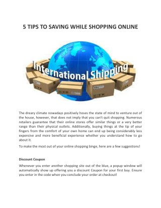 5 TIPS TO SAVING WHILE SHOPPING ONLINE