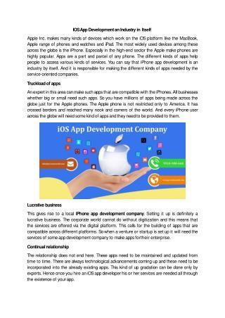 IOS App Development an Industry in Itself