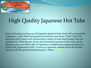 High Qaulity Japanese Hot Tubs
