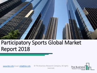 Participatory Sports Global Market Report 2018