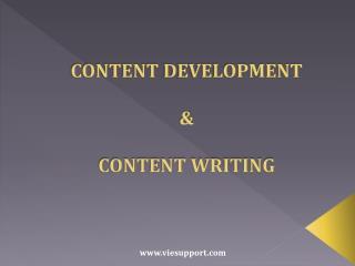 Content Development & Content Writing