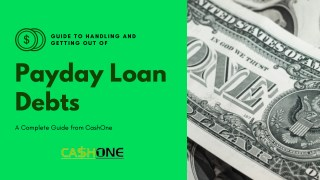 Guide to Getting Out of Payday Loan Debts in 2019