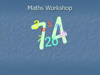 Maths Workshop