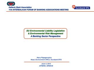 EU Environmental Liability Legislation  Environmental Risk Management A Banking Sector Perspective