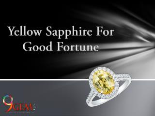 Yellow Sapphire For Good Fortune