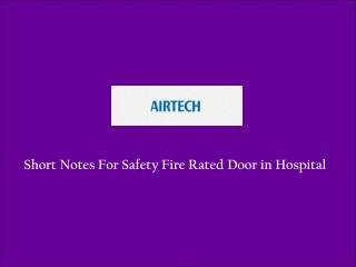 Fire Rated Door Supplier