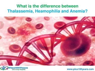what is the difference between thalassemia, heamophilia and anemia?