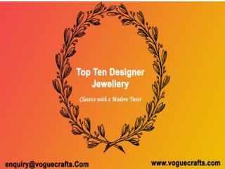 Top ten designer jewellery manufacturer in UAE - Voguecrafts.Com