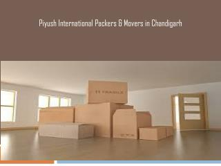 Movers and packers Cost Chandigarh