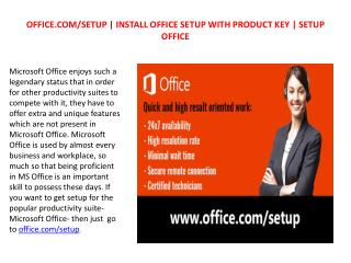 office.com/setup - Procedure to Install and Uninstall the Microsoft Office
