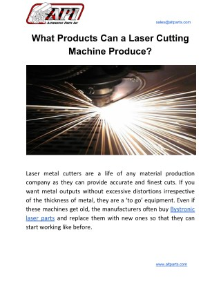 What Products Can a Laser Cutting Machine Produce?