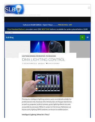 DMX LIGHTING CONTROL - Saving Light Bulbs