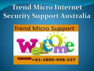 Trend Micro Internet Security Setup Support