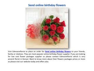 Send Anniversary Flowers today