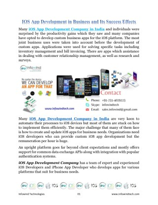 IOS App Development in Business and Its Success Effects