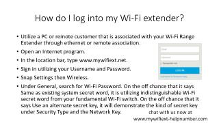 How do you connect a Wi-Fi extender?