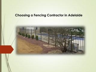 Choosing a Fencing Contractor inAdelaide