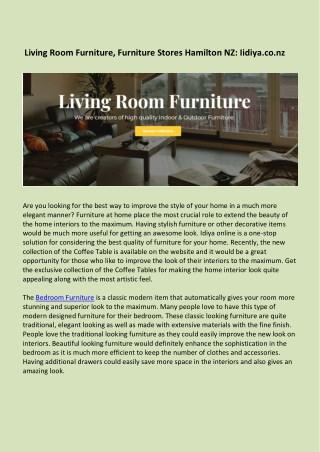 Living Room Furniture, Furniture Stores Hamilton NZ - Iidiya.co.nz