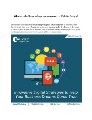 What are the Steps to Improve e-commerce Website Design?