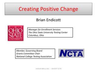 Creating Positive Change