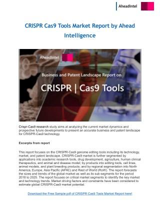 CRISPR Cas9 Tools Market Report by Ahead Intelligence