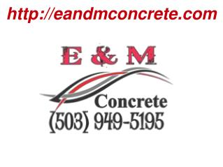 Commercial Concrete, Construction, Foundations, Sidewalks, Slabs at OR, USA