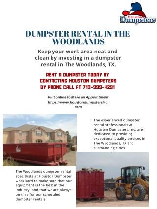 Dumpster Rental The Woodlands