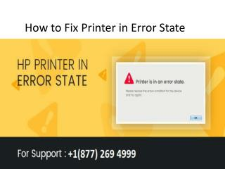 How to Fix Printer in Error State
