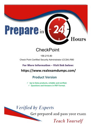 Download Latest CheckPoint 156-215.80 Exam Questions - 156-215.80 Exam Dumps PDF