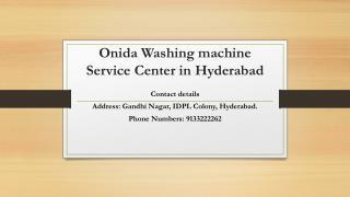 Onida washing machine service center in Hyderabad